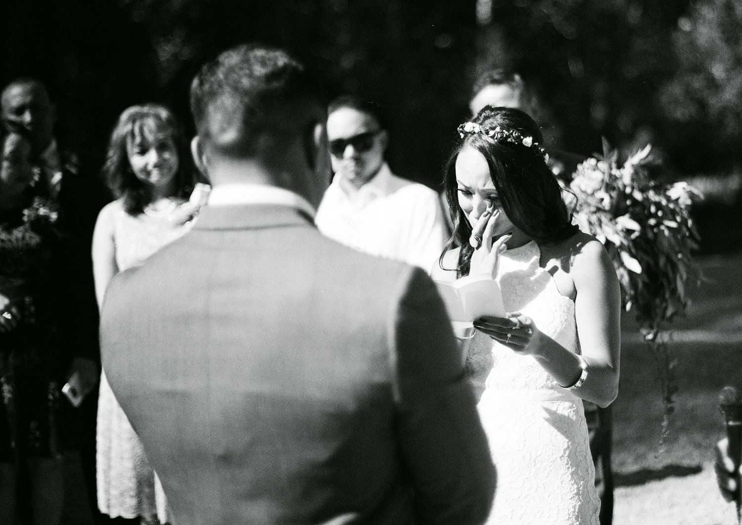 Michelle and Brett's elopement ceremony was so emotional. It's been a long road for them and they're finally married. I love this image of Michelle crying happy tears while giving her vows.