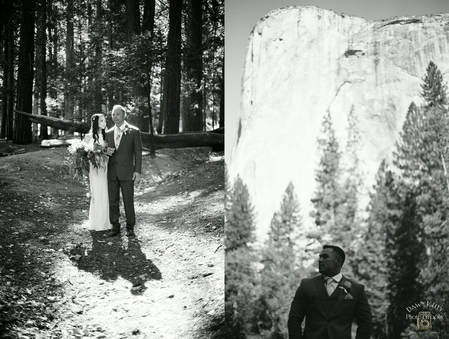 Cathedral Beach in Yosemite is an epic place to get married. With El Capitan as your view, you can't go wrong.