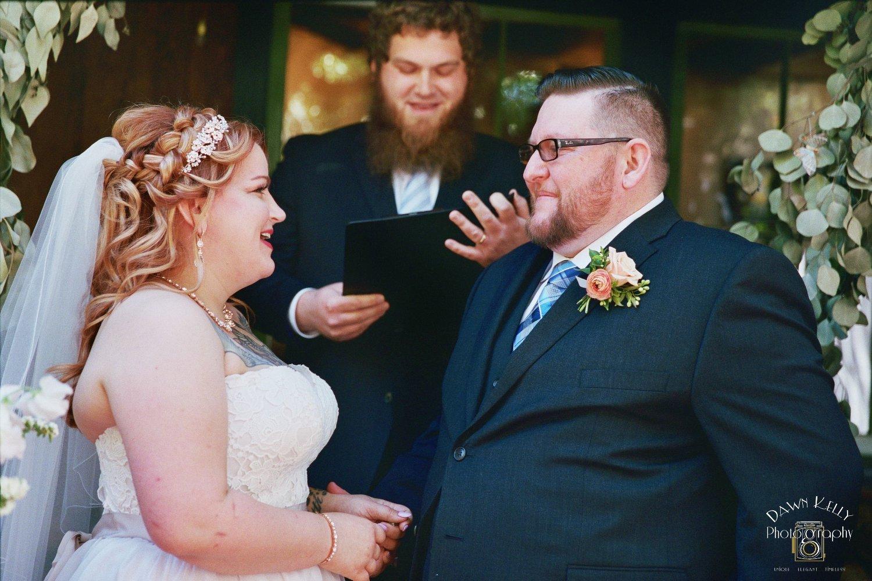 Bull valley roadhouse wedding ceremony