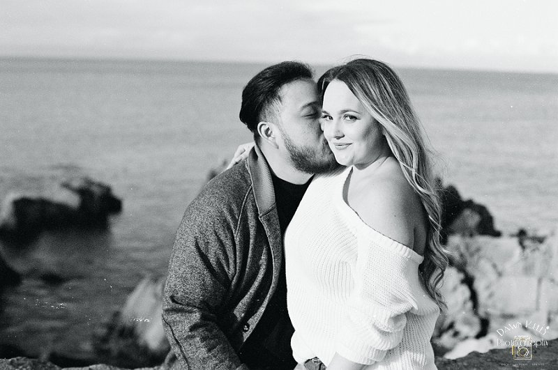 Carmel beach engagement pic