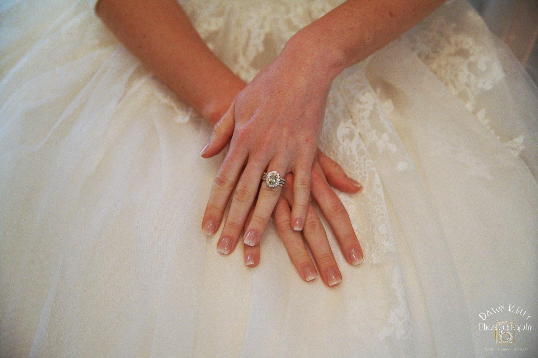 Large yellow diamond wedding ring