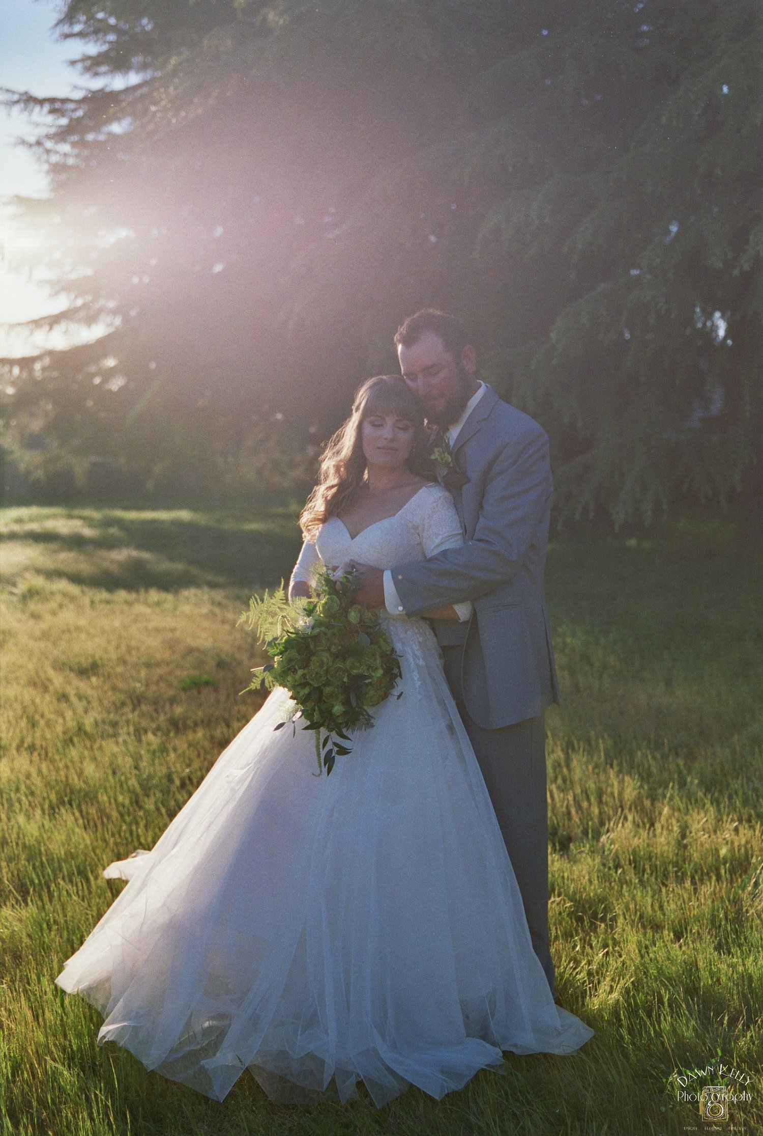 Bride and groom in Turlock