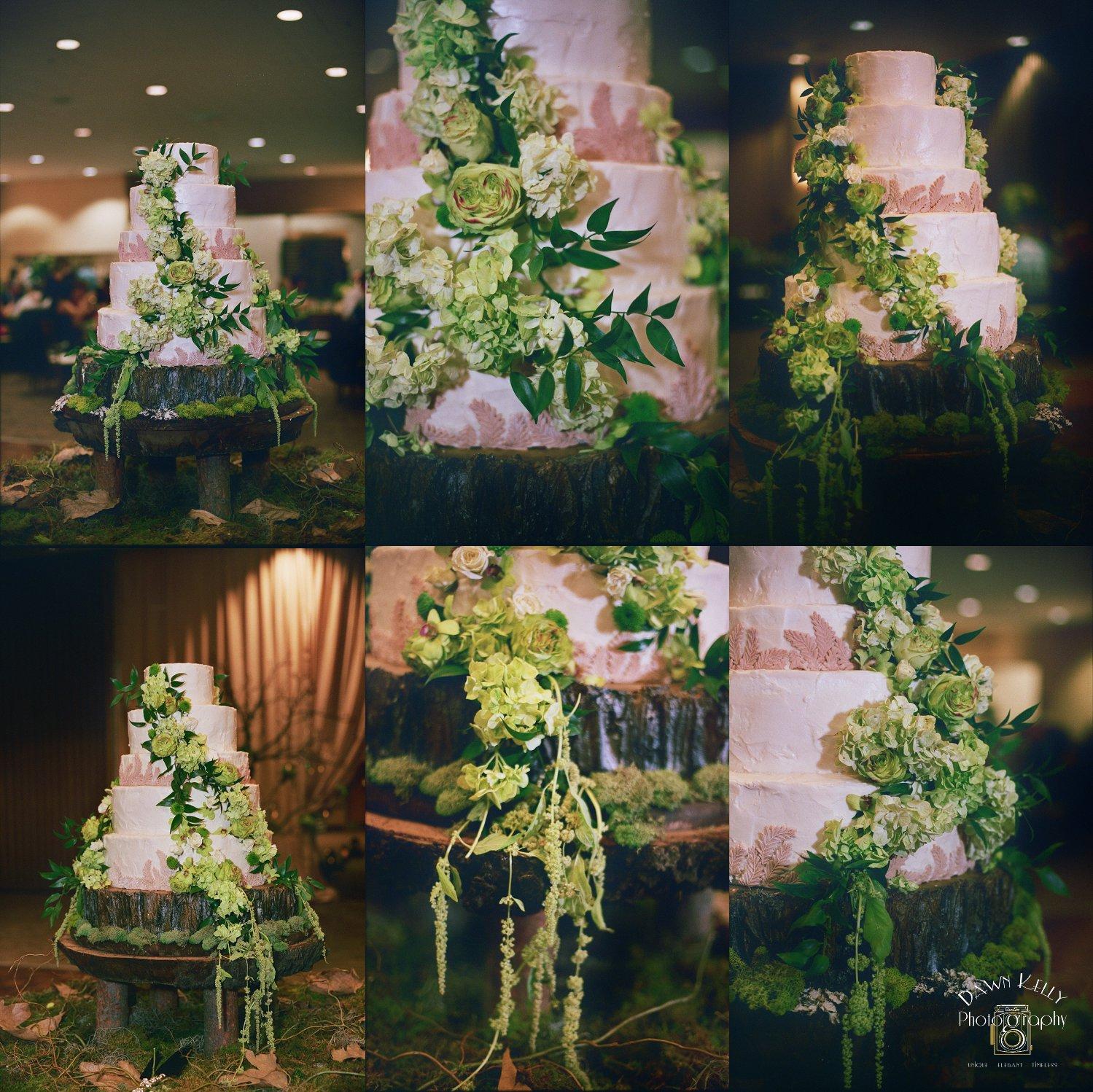 Wedding cake at Larsa Banquet Hall