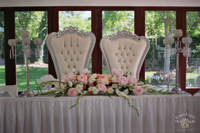 Alice in Wonderland wedding chairs