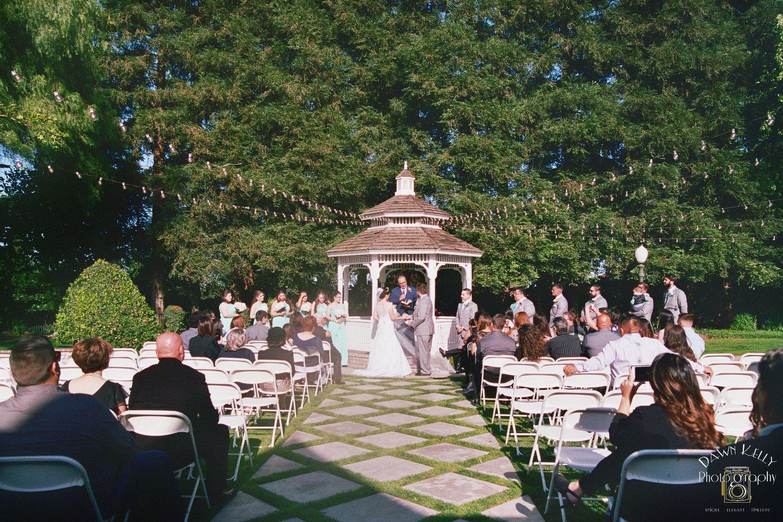 Ceremony gazebo at Vintage Gardens