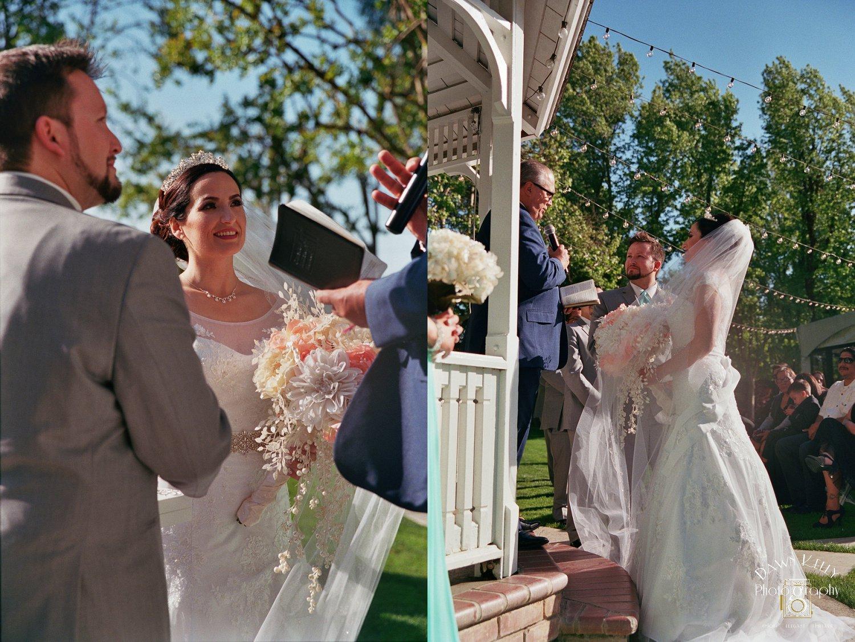 Sunny ceremony at Vintage Gardens