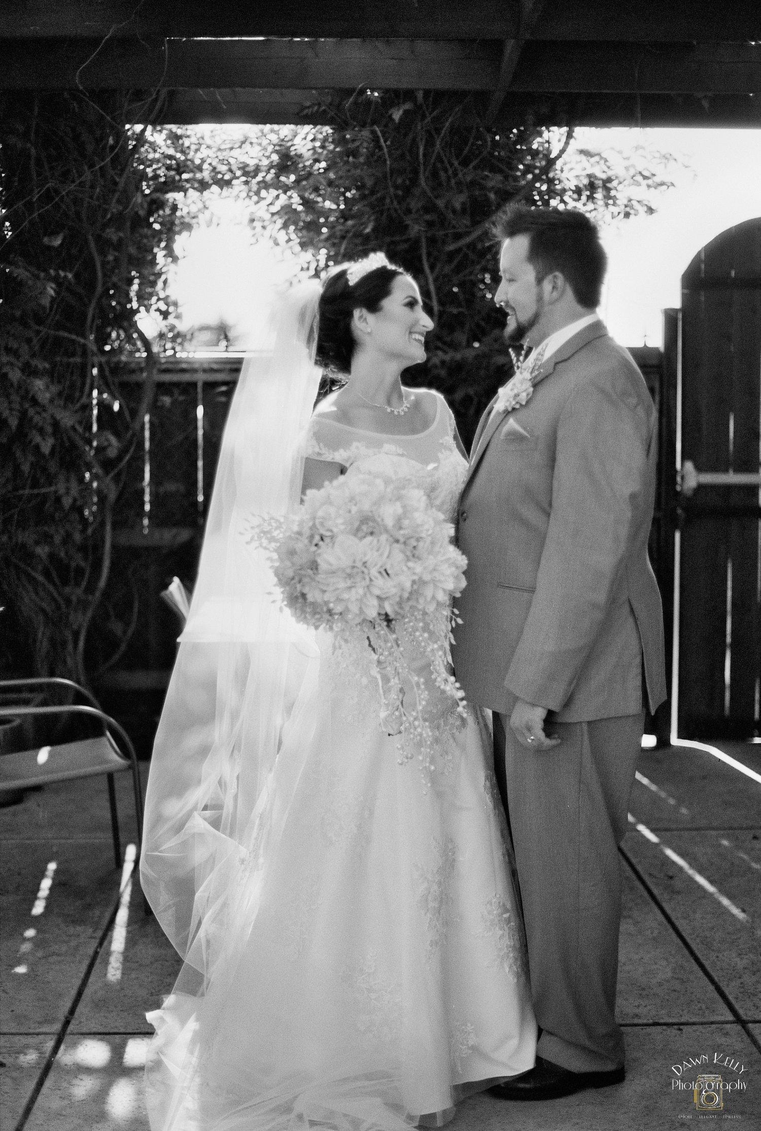 Candid bride groom after ceremony