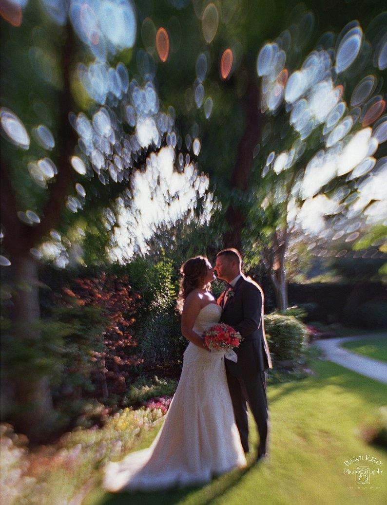 Tilt shift wedding portrait
