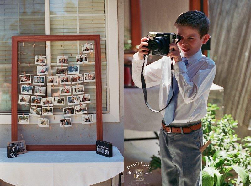 Polaroid photo booth idea
