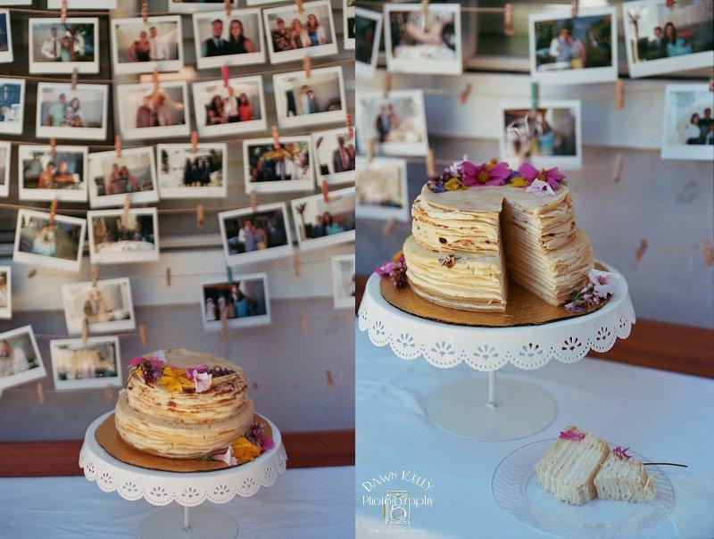 Crepe wedding cakes