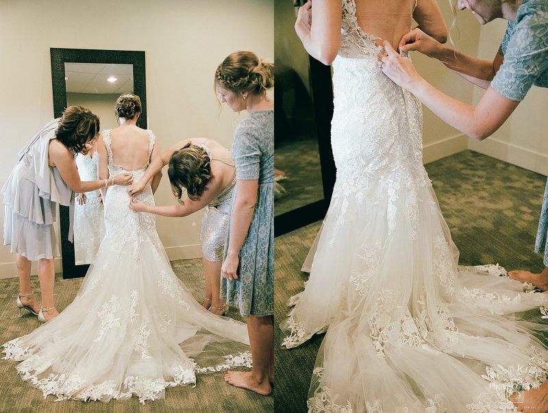Bride getting ready at Spring Creek Golf & Country Club