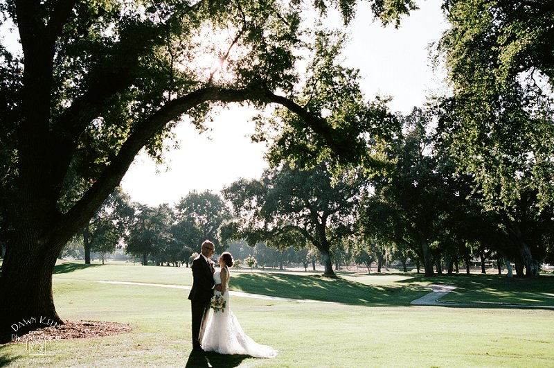 Bride and groom portrait at Spring Creek Golf & Country Club
